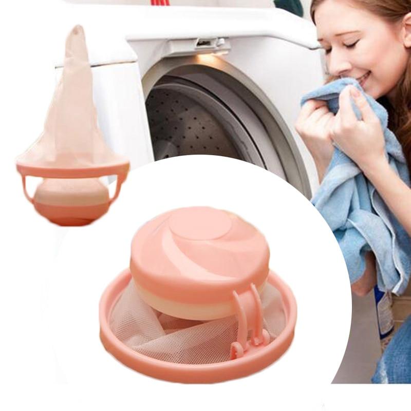 Сетчатый мешок чистящий шар случайная стиральная машина плавающие волосы мешок сетчатого фильтра сосание волос фрагменты Прачечная мяч
