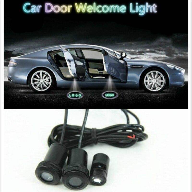 Ghost Shadow Light For Ssangyong Rexton <font><b>Kyron</b></font> Korando Actyon Rodius <font><b>LED</b></font> Car Logo Projector Car Decorative Welcome Door Light
