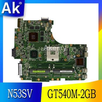 AK N53SV Laptop motherboard for ASUS N53SV N53SN N53SM N53S N53 Test original mainboard GT540M-2GB