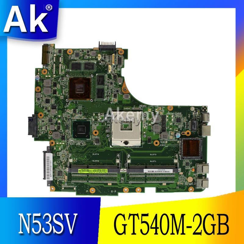 AK N53SV laptopa płyta główna do Asusa N53SV N53SN N53SM N53S N53 Test oryginalne płyty głównej płyta główna GT540M 2GB w Płyty główne od Komputer i biuro na AliExpress - 11.11_Double 11Singles' Day 1
