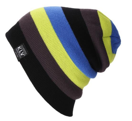 Men Women Skiing Warm Winter Hats Knitting Skating Skull Caps For Woman  Turtleneck Beanies Hat Snowboard Ski Cap 8f15f58a6dd8