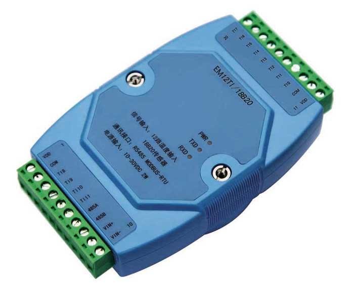 12 road temperature acquisition module 18B20 temperature measurement MODBUS RS485 Adam temperature collector