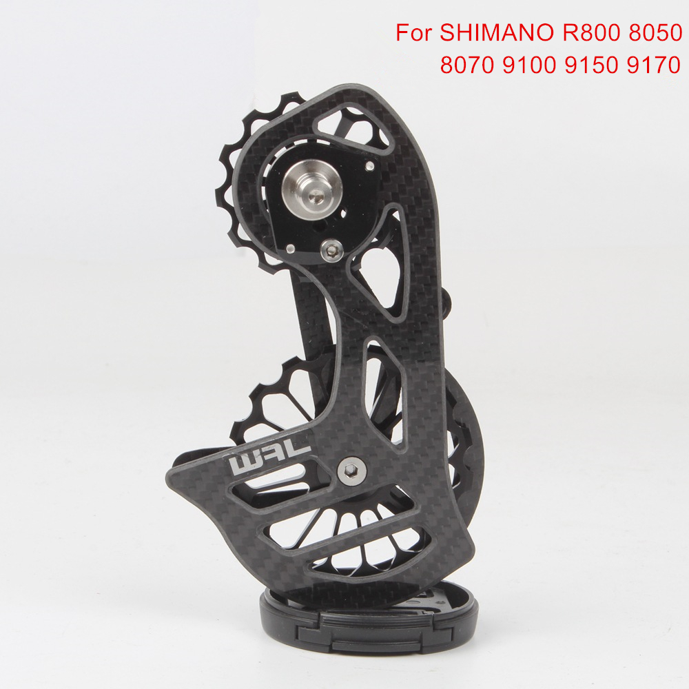 Carbon Fiber Ceramic Bearing 17T Bicycle Rear Derailleur Jockey Pulley Guide Wheel For Shimano R8000 8050 8070 9100 9150 9170Carbon Fiber Ceramic Bearing 17T Bicycle Rear Derailleur Jockey Pulley Guide Wheel For Shimano R8000 8050 8070 9100 9150 9170
