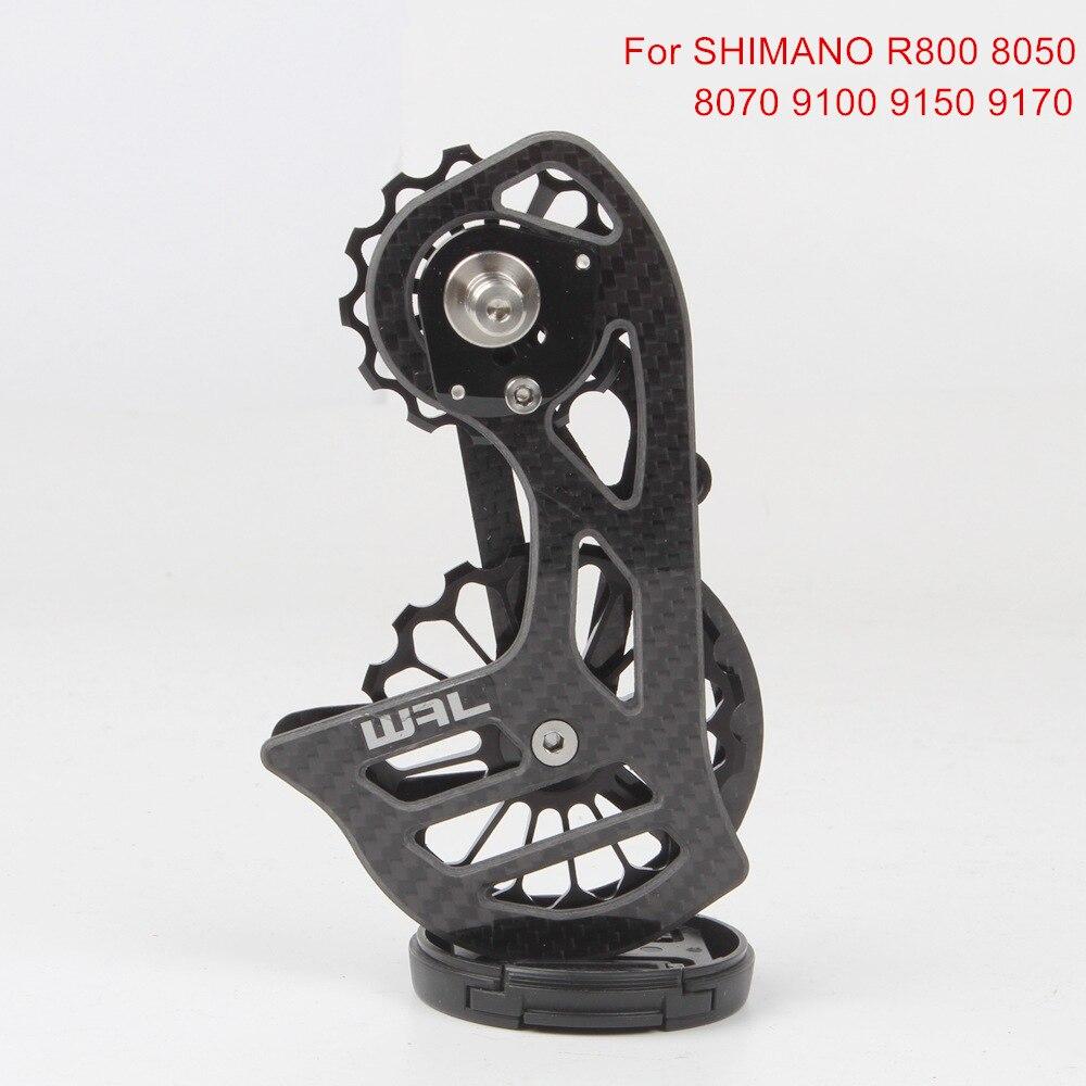 Carbon Fiber Ceramic Bearing 17T Bicycle Rear Derailleur Jockey Pulley Guide Wheel For Shimano R8000 8050 8070 9100 9150 9170
