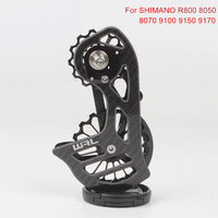 Carbon Fiber Ceramic Bearing 17T Bicycle Rear Derailleur Jockey Pulley Guide Wheel For Shimano R8000 8050 8070 9100 9150 9170