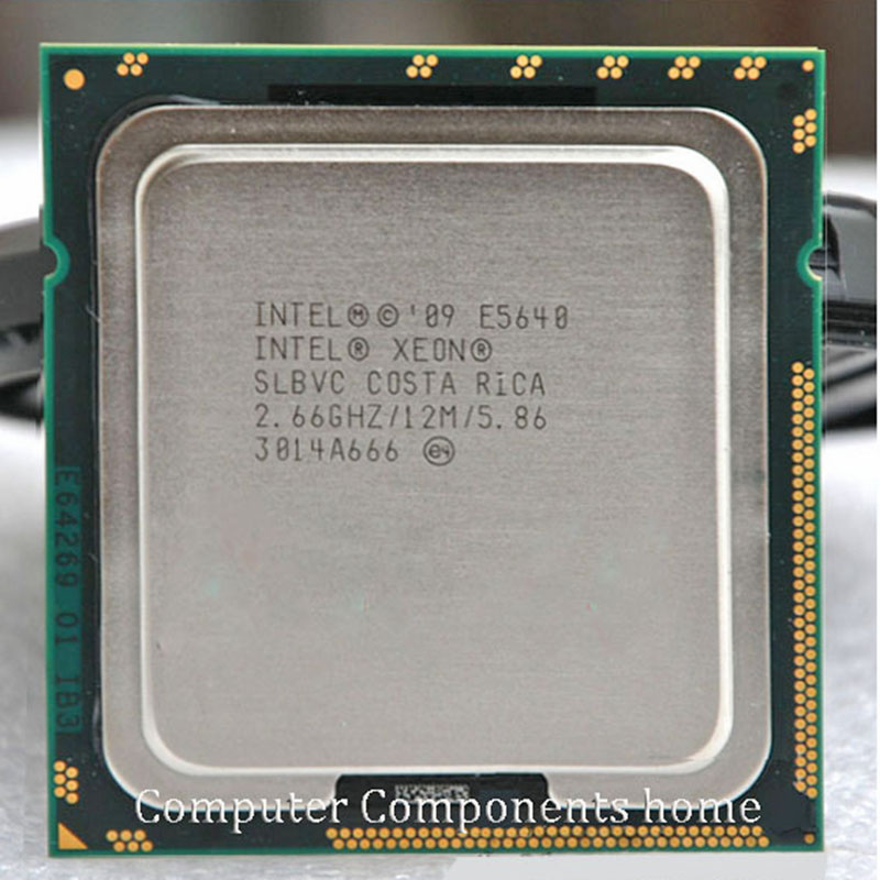 INTEL xeon CPU 2.66G/12M CPU E5640 cpu PROCESSOR LGA 1366 SLBVC support X58 motherboard 1