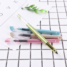 1 Pc Korea Cute Kawaii Permen Warna Plastik Kaligrafi Air Mancur Tinta Pena untuk Writingstationery Warna Acak(China)