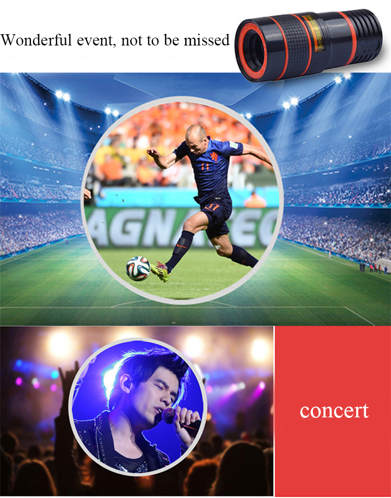 APEXEL 4 in 1 8X Telephoto Telescope Lens+Macro Lens+Wide Angle Lens+Fisheye Lens External Camera Lens For IOS Android Phone 6