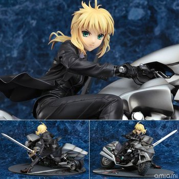 anime Fate/stay night action figure Saber Motorcycle model toys figurine doll decoration pvc classic collection saber toys gifts