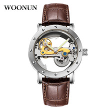 Creative Men Watches Fashion Transparent Hollow Watches Men Automatic Mechanical Watches Men's Watches Winner horloge mannen 55 watches fashion watches