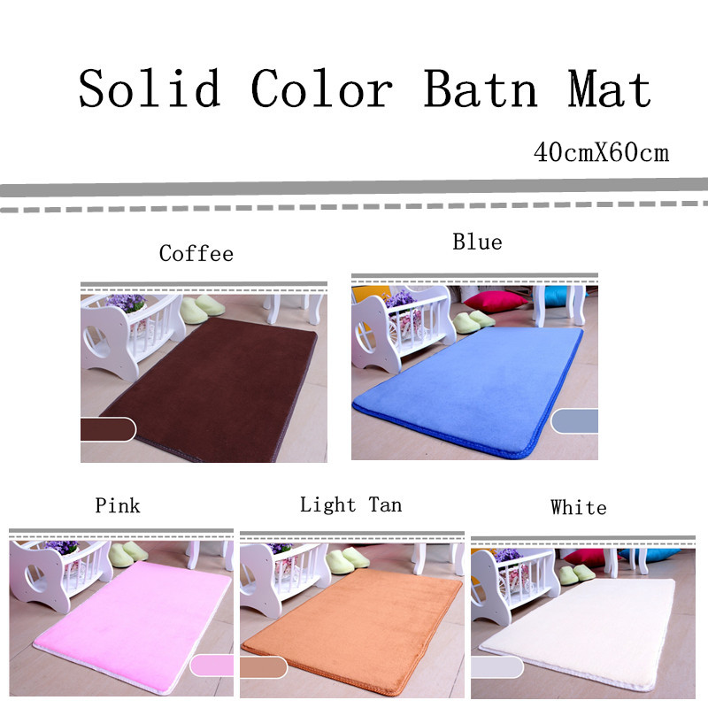 Free Shipping 40cmX60cm Bath Mat Chair Cushion Solid Color Floor Carpet Home Decor Doormat Fashion Absorbent Non-Slip Prayer Mat