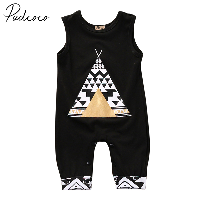 PUDCOCO Brand Cotton Blend Cute Summer Baby Boys Girls Infant Clothes Romper Jumpsuit one pieces Outfits 0-24M puseky 2017 infant romper baby boys girls jumpsuit newborn bebe clothing hooded toddler baby clothes cute panda romper costumes