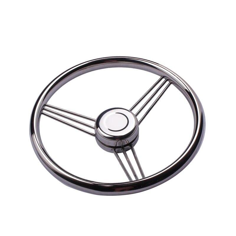 Купить с кэшбэком New arrival Boat accessories  Steering Wheel Stainless Steel 9 Spoke Knurling 13-1/2'' For Marine Yacht