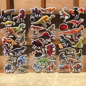 Image 5 - 10枚3D動物ステッカーのおもちゃ子供のためのスクラップブック電話ラップトップギフト動物虎ライオン恐竜ステッカーyyy gyh