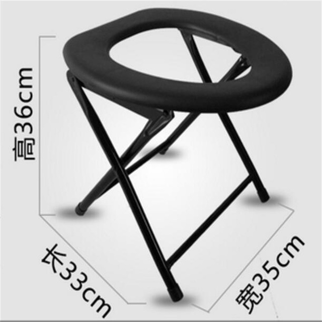 Sitting Height 36cm Folding Skidproof Pregnant Woman Bathroom Chairs The Aged Commode Chair Mobile Potty