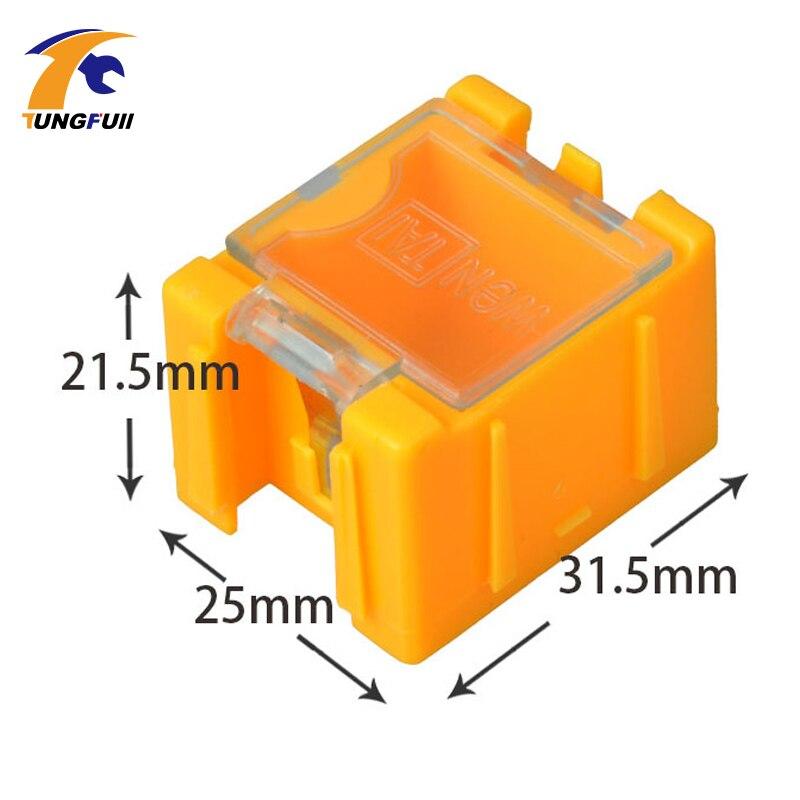 rychlá dodávka 50ks SMD SMT komponenty skladovací krabice - Sady nástrojů - Fotografie 3