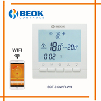 BEOK Programmable Gas Boiler Heating Temperature Regulator APP Controls WIFI Thermostat Hand Control Thermostat With Kid