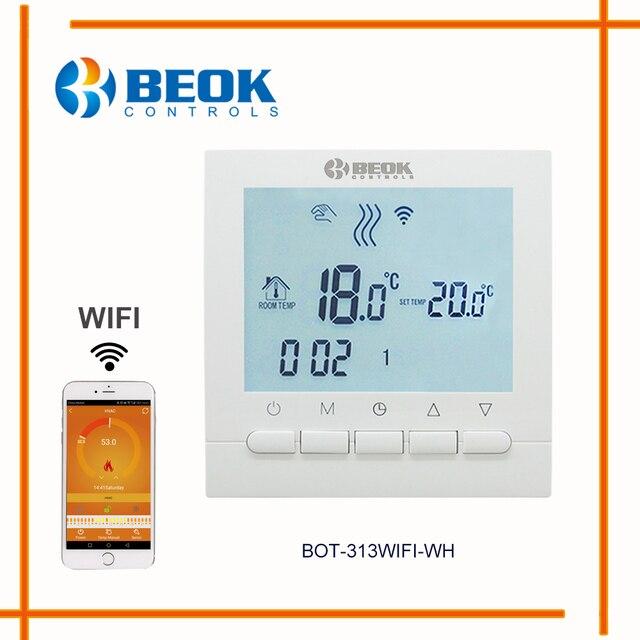 BEOK programable de Gas de calefacción de la caldera regulador de temperatura APP controles WIFI termostato y mano termostato de Control con chico cerradura