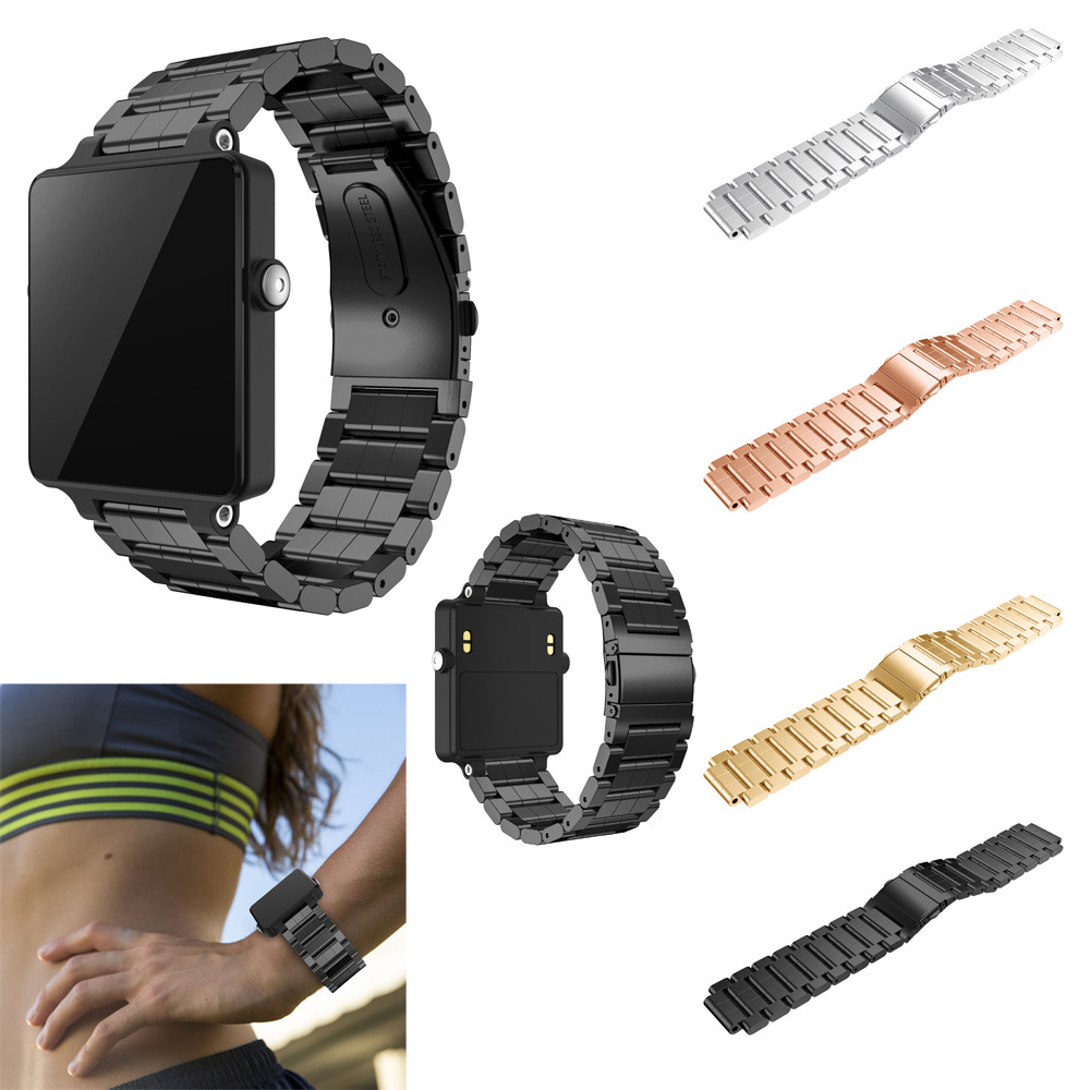 24MM Luxury Stainless Steel Bracelet Smart Watch Band Strap For Garmin Vivoactive Acetate Smartwatch Bands javrick silicone wristband bracelet band replacement for garmin vivoactive acetate watch sports watch watchbands accessories
