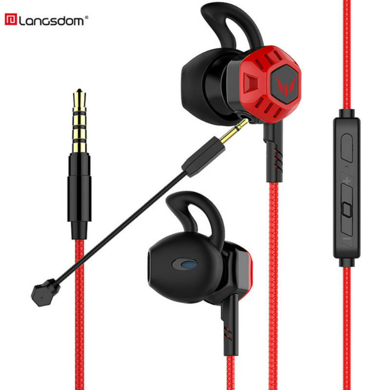 Langsdom HIFI Gamer in-ear Earphone G100X portable super bass stereo earphones G100 gaming headset with microphone for PS4 Music image