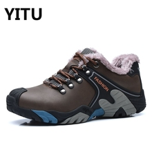 Autumn Man Outdoor Hiking Shoes fishing Athletic Trekking Winter Fur Boots Women Climbing Walking Sneskers Unisex Size 35-44