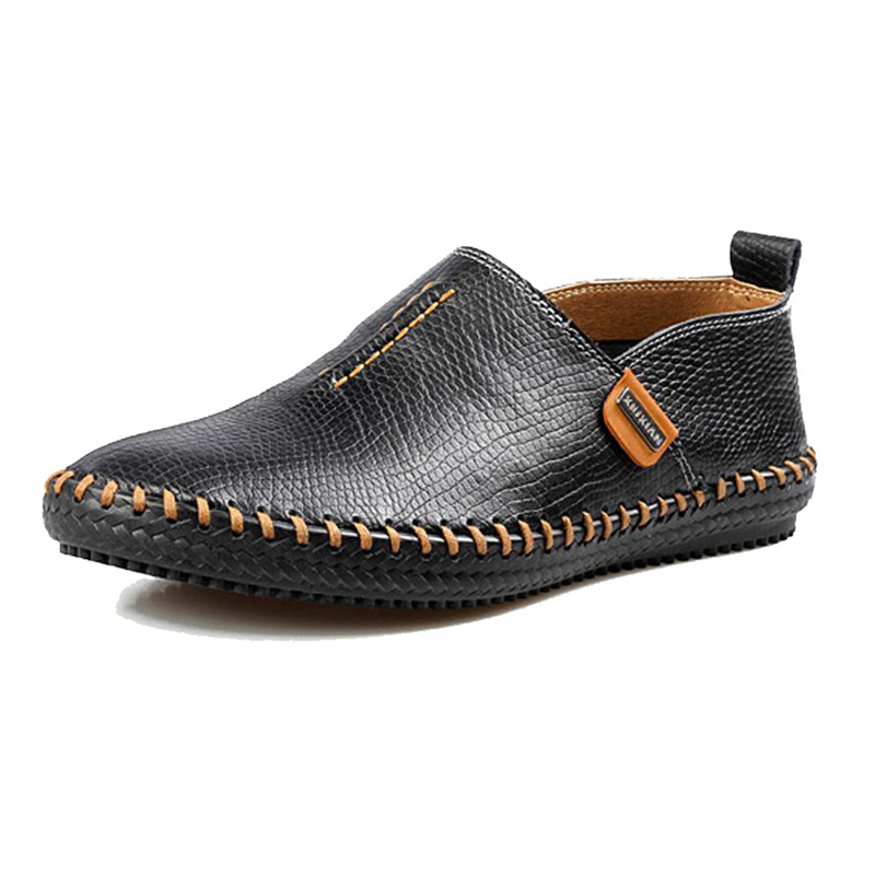 Sale Quality Genuine Leather Men Flats Casual Shoes Breathable Driving Shoes Male Loafers Solid Boat Shoes Moccasines XK032207 big size 39 48 men flats summer genuine leather loafers breathable driving shoes moccasines slip on male casual shoes xk032808