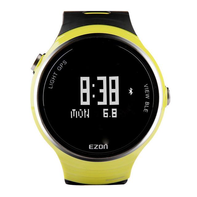 EZON deportes al aire libre mesa de dispositivo portátil inteligente Bluetooth Reloj de Los Hombres Negro Digital WristwatchesG1A01 caminos de mesa