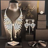 GO5 FASHION jewelry sets WEDDING jewelry accessories bridal jewelry sets WOMEN necklace Zirconia stone necklace WEDDING SETS