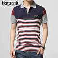 Hee grand 2017 verano hombre casual patchwork stripped shirts camisa polo masculino de manga corta polos hombres mtp420