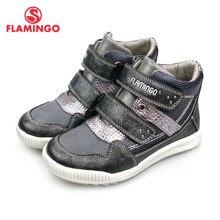 163549a3934f39 FLAMINGO Russe Marque Automne/hiver Bottes Haute Qualité Crochet et Boucle  Anti-slip Enfants Chaussures pour Fille Livraison gra.