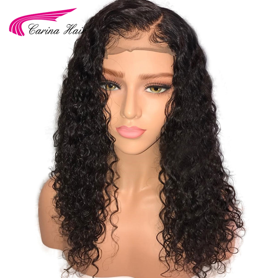 Carina Brazilian Kinky Curly Lace Front Human Hair Wig with Baby Hair Remy Hair Glueless Wig