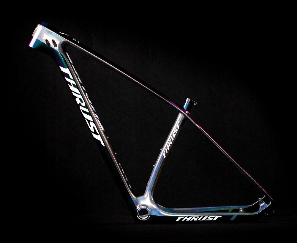 THRUST Carbon Bike Frame mtb 29er Mountain Bike Carbon Frame Internal Cable Design Disc Brakes Di2