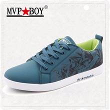 MVP BOY Brand Men Shoes 2017 New Summer Classic Lace-Up Casual Men Shoes Fashion Graffiti Men Flat Shoes Spring Shoes Men Casual