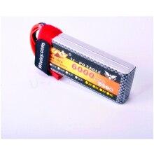1pcs YW RC Lipo Battery 7 4V 11 1V 6000mah 30C AKKU Batteria T Plug For