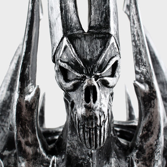 Hot 1:1 World of War craft WOW Lich King Death Knights Helmet Cosplay props toys Anime Figure Collectible Model Toy 5