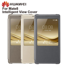 Original Huawei Smart Phone Case View Cover Flip For Mate8 Mate 8 Housing Sleep Function intelligent