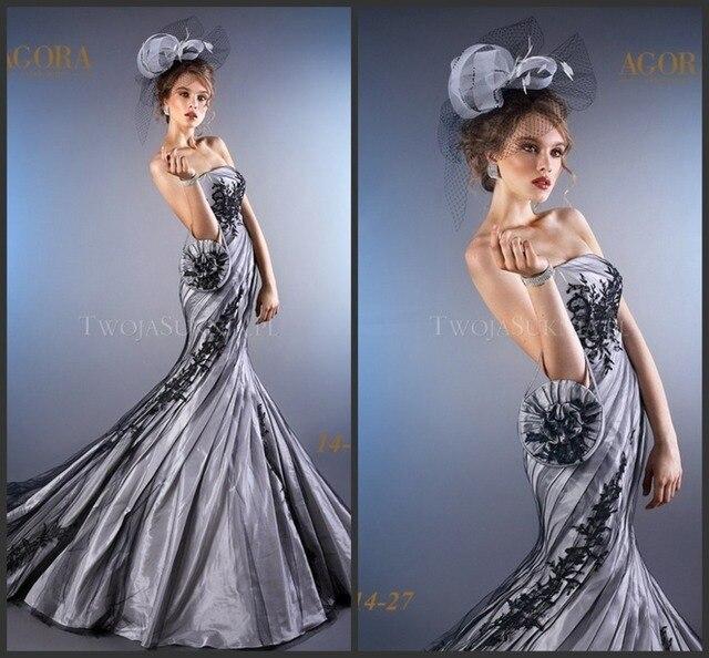 Vestidos de novia de color plata