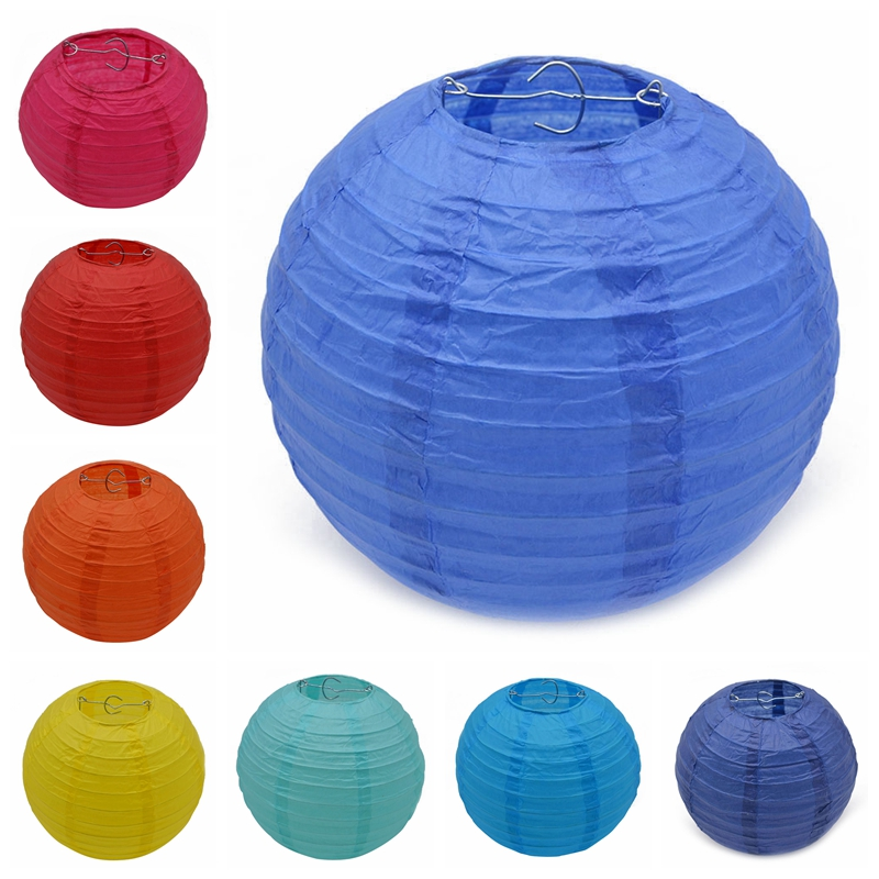 1Pc 10/15/20/25/30CM Chinese Tissue Paper Lantern Hanging Lampion Ball Family Party Wedding Birthday Decorations Festival Supply