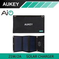 21 Watt AUKEY Solar-ladegerät mit Dual USB Port Faltbare, tragbare Solar Panel für iPhone 6 s 7 Plus, Android, Samsung, HTC, LG, Nexus