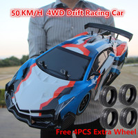 2019 1:10 Full Scale Large Stunt Racing Drift RC Car Kids Toy 4WD14 2.4G 4WD Driving 50KM/H RC Car Remote Control Car Boy Toy