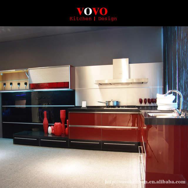 Black Lacquer Kitchen Cabinet