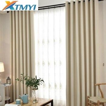 Cortinas opacas sólidas modernas para el dormitorio de la sala de estar cortinas de lujo gruesa cortina de noche térmica