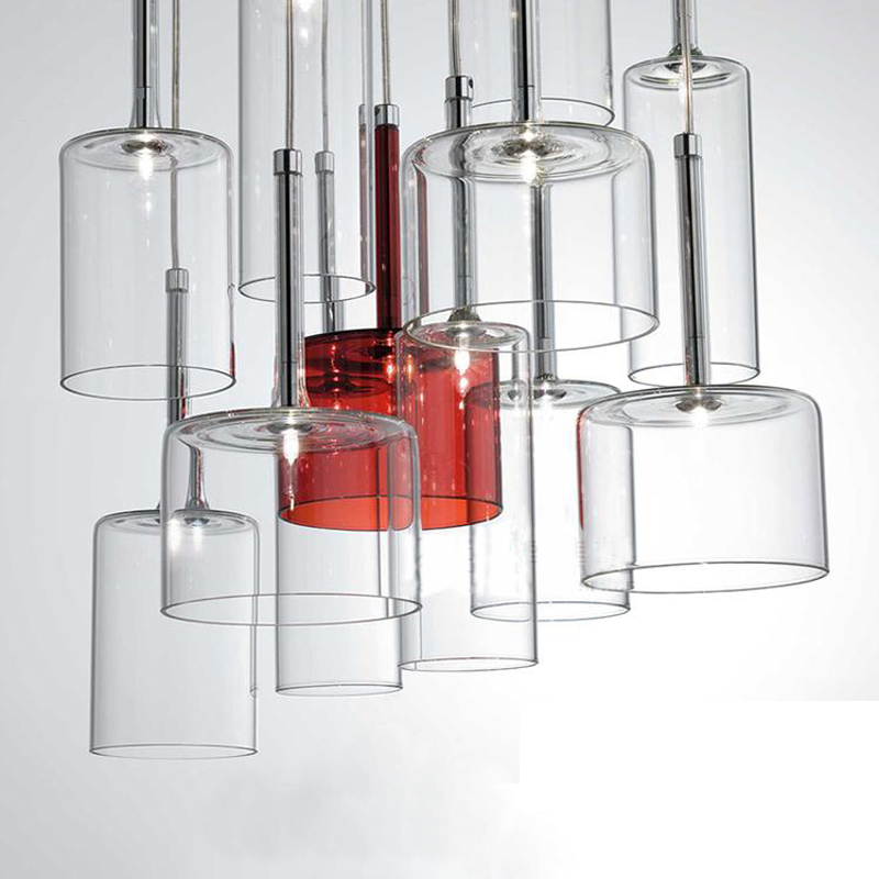 Modern Simple Hanging Lamp indoor G4 Led Glass Pendant Lamp Clear Crystal Glass Bottle pendant lighting for restaurants square corners hanging antique copper 2 candelabra sockets clear glass