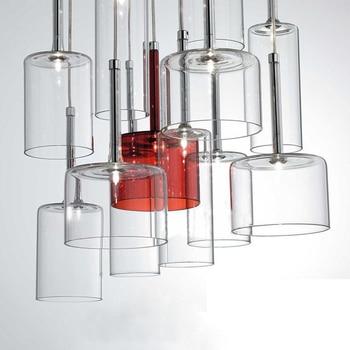 Modern Simple Hanging Lamp indoor G4 Led Glass Pendant Lamp Clear Crystal Glass Bottle pendant lighting for restaurants