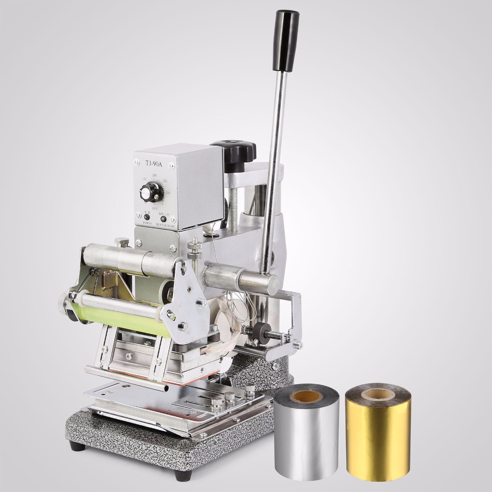 US Free Shipping Card Embosser Embossing Machine And Hot Foil Stamping Machine Card Stamper Tipper For PVC Card Making