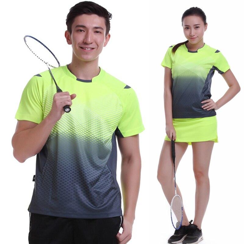 Для женщин/Для мужчин Настольный теннис рубашка одежда командная игра с коротким рукавом ShirtsNew Спортивная быстросохнущая дышащий Бадминто...