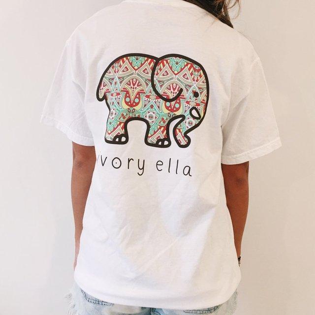 105df432f833d8 MSAISS Elephant Printed T Shirt Women Summer Animal Short Sleeve Tshirts T-Shirt  Girl Casual