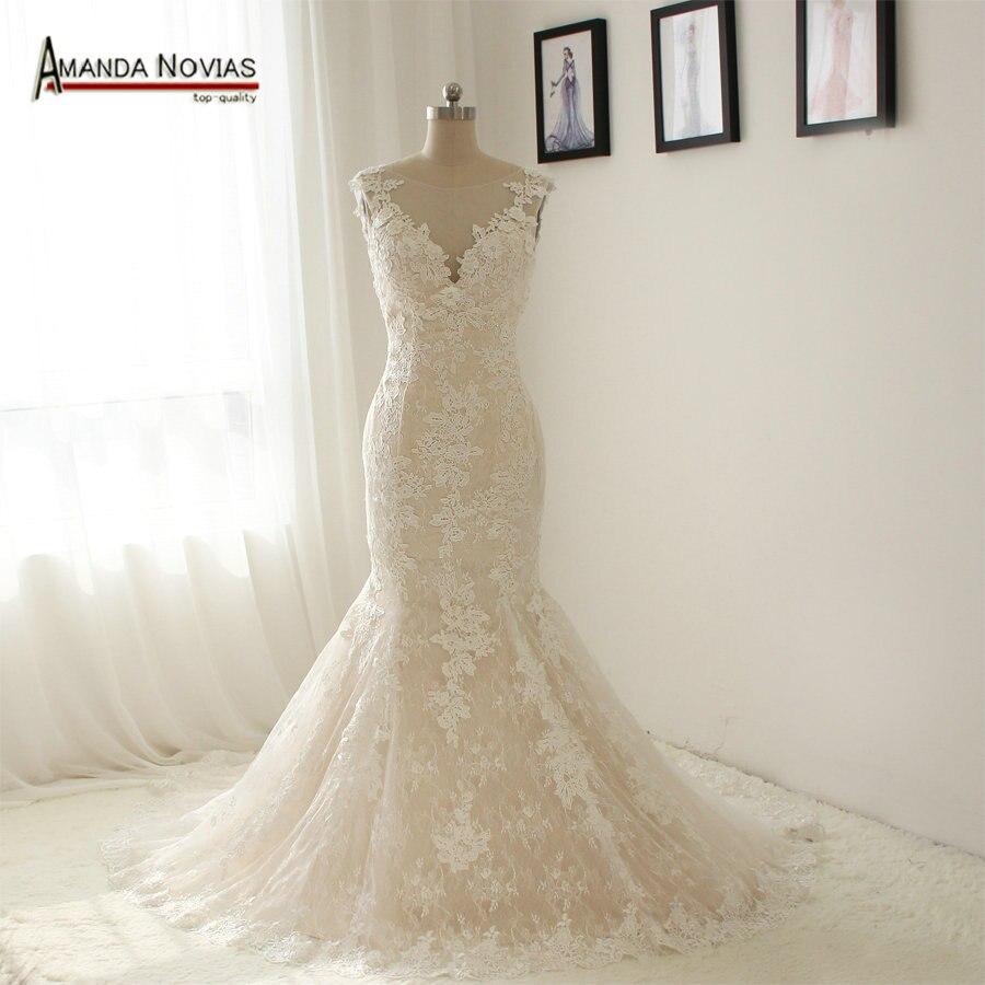 Buy ns1333 beautiful new model lace for True mermaid wedding dresses