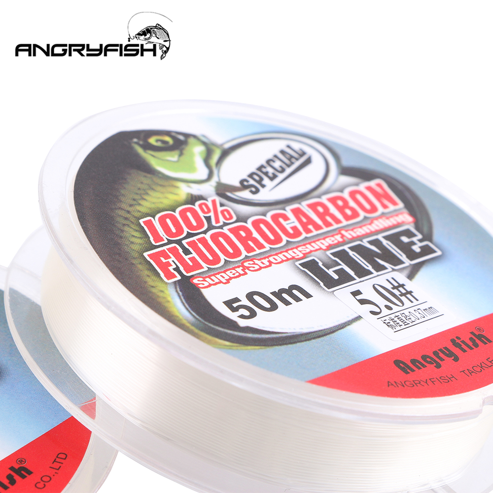 ALI shop ...  ... 32794193033 ... 4 ... ANGRYFISH 100% Fluorocarbon Fishing Line 50m transparent Super strong Fish Line ...