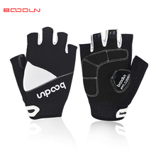 ФОТО boodun summer cycling gloves half finger gel mountain bike gloves men breathable non-slip women bicycle outdoor sports gloves